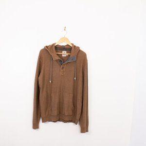 Kolby Knitted Brown Hoodie